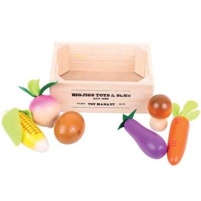 Leksaksmat - Grönsaker och rotfrukt i låda