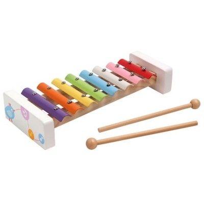 Xylofon i trä och metall - pastellfärger