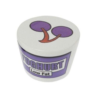 Leksaksmat - Yoghurt i trä - lila