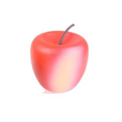 Leksaksmat - Äpple i trä, röd