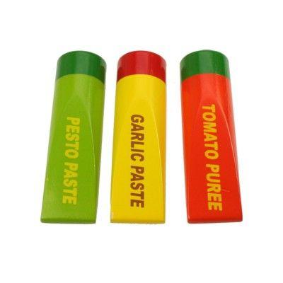 Leksaksmat i tuber - set med tre stycken