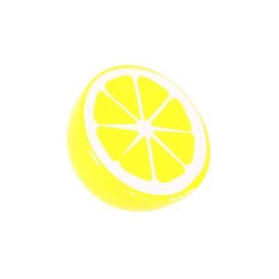 Leksaksmat - Halv citron i trä