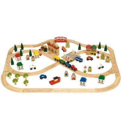 Tågset i trä - Town & Country