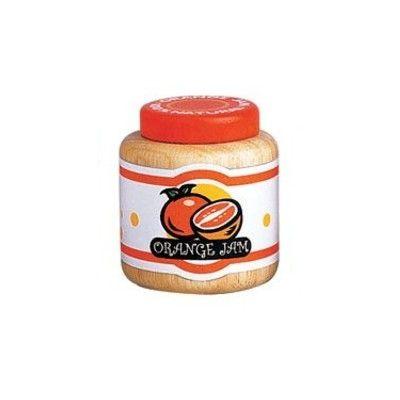 Leksaksmat - Burk i trä - apelsinmarmelad