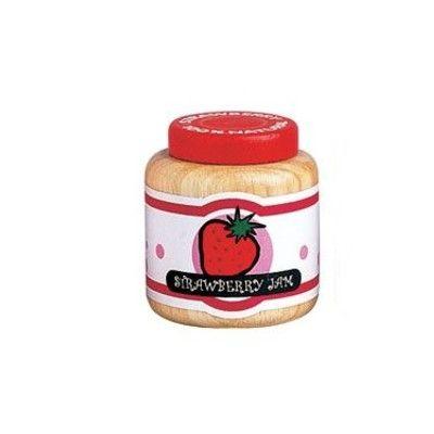Leksaksmat - Burk i trä - jordgubbssylt