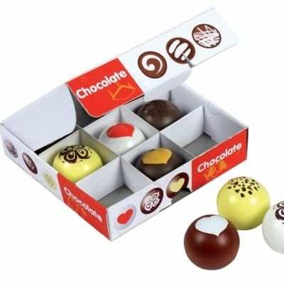 Leksaksmat - Ask med chokladtryfflar