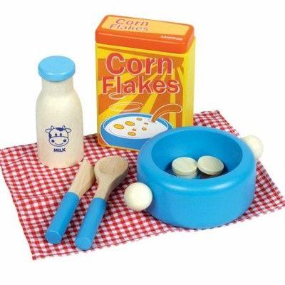 Leksaksmat - Flingor och mjölk