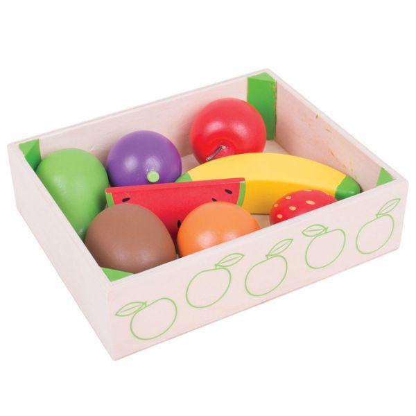 Leksaksmat - Fruktlåda med frukt - Bigjigs
