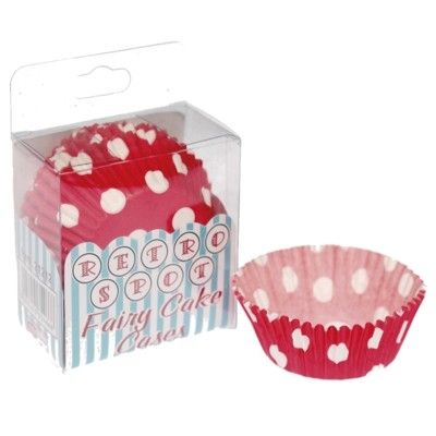 Muffinsformar - Röda med vita prickar - 75 st