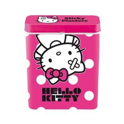 Plåster i plåtburk - Hello Kitty, cerise