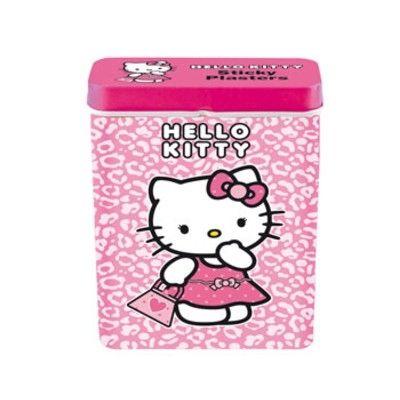 Plåster i plåtburk - Hello Kitty, rosa