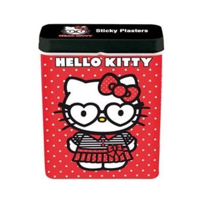 Plåster i plåtburk - Hello Kitty, röd