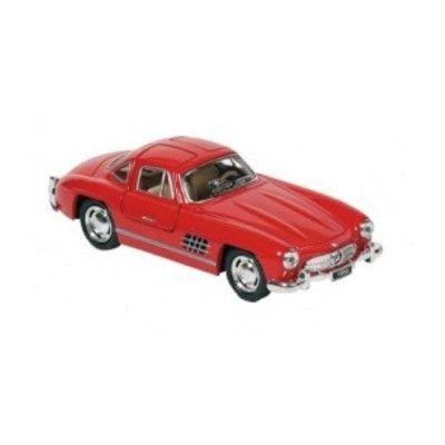 Bil i metall - Mercedes Benz 300SL (1954) - röd
