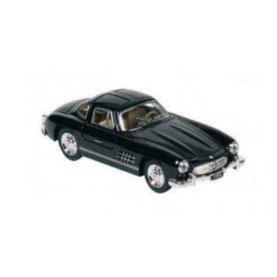 Bil i metall - Mercedes Benz 300SL (1954) - svart