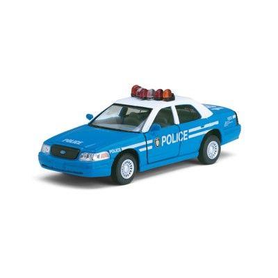 Bil i metall - Ford Police - blå