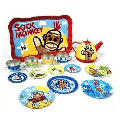 Servis i plåt - sock monkey