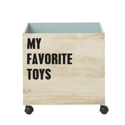 Förvaringsbox i trä - My favourite toys - Bloomingville
