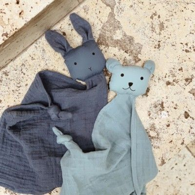Snuttefilt - Yoko mini cuddle cloth 2-pack - Blue mix - ekologisk från Liewood
