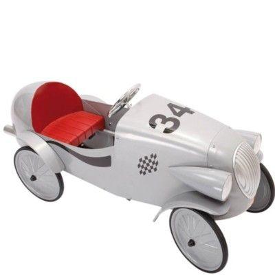 Trampbil i metall - grå Le Mans modell - Baghera
