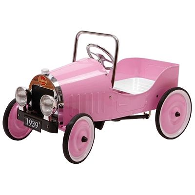 Trampbil i metall - rosa
