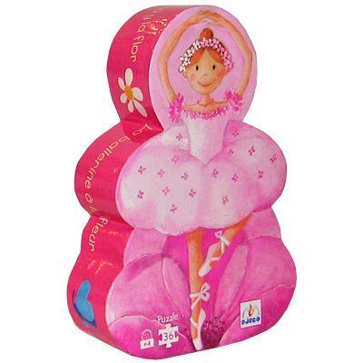 Pussel i siluettbox - Ballerina - Djeco