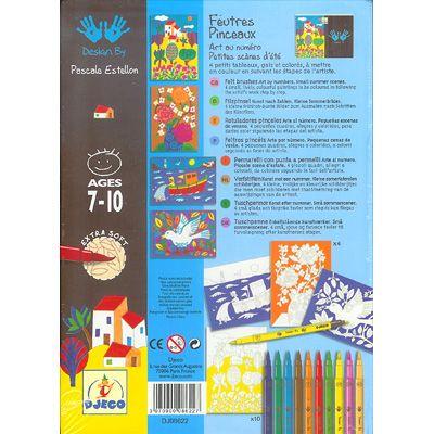 Konst efter nummer - filtpennor - sommar