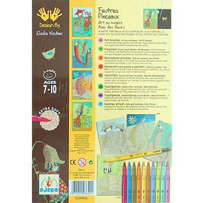 Konst efter nummer - filtpennor - blommor - Djeco