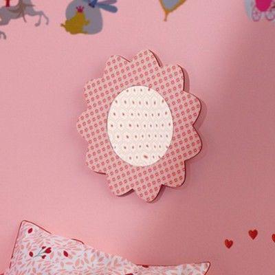 Spegel - rosa blommor