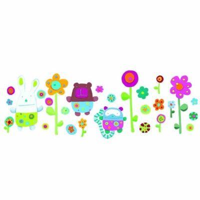 Wallstickers - söta djur och blommor
