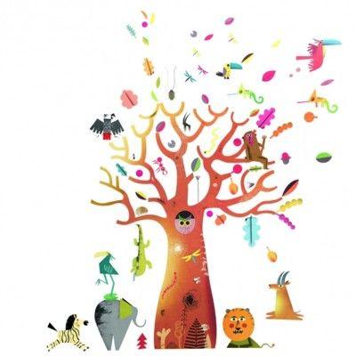 Wallstickers - apbrödsträd - stort