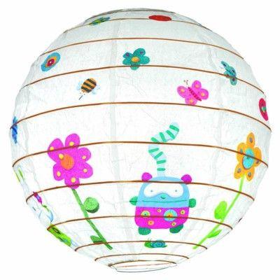 Rislampa - Söta djur och blommor