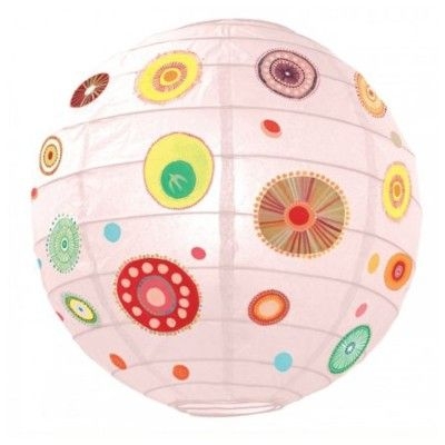 Rislampa - Färgglada cirklar