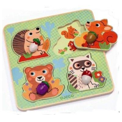 Knopp-pussel - Croc-nut - 4 bitar - Djeco