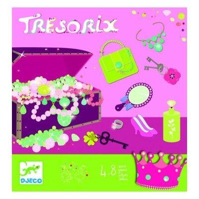 Spel - skattjakt rosa - perfekt till barnkalaset - Djeco