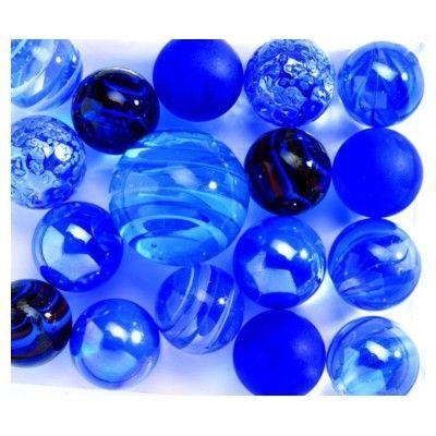 Glaskulor - blå