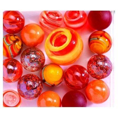 Glaskulor - orange