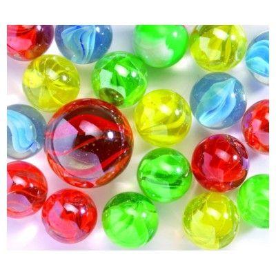 Glaskulor - randiga i olika färger