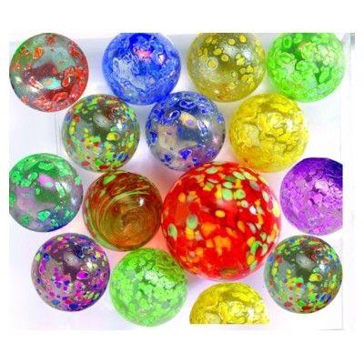 Glaskulor - prickiga i olika färger