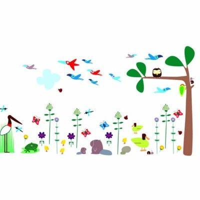 Wallstickers - fåglar och träd