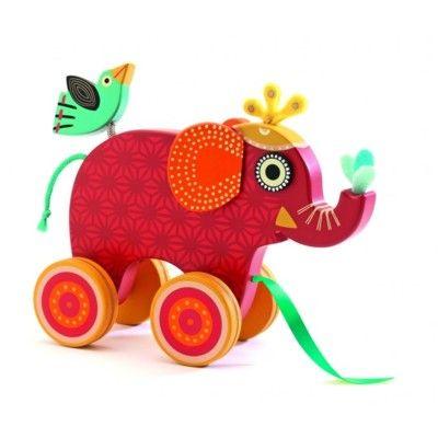 Dragleksak - elefanten Indy - Djeco