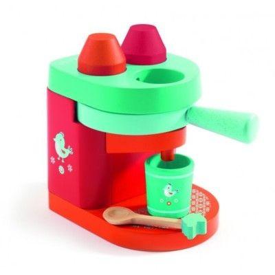 Leksaksmat - Kaffemaskin i trä - Djeco