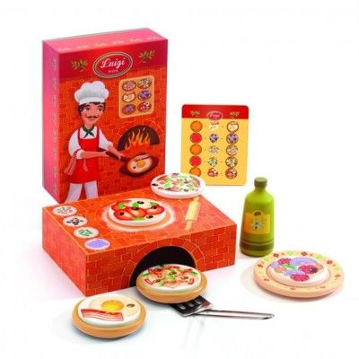 Leksaksmat - Pizza i trä - Djeco