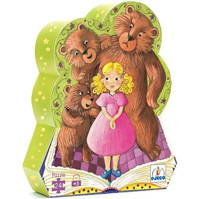 Siluettpussel - Guldlock och de tre björnarna - Djeco