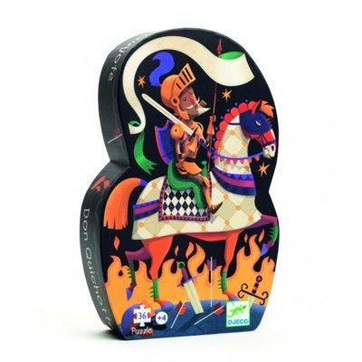 Pussel i siluettbox - Don Quijote - 36 bitar - Djeco