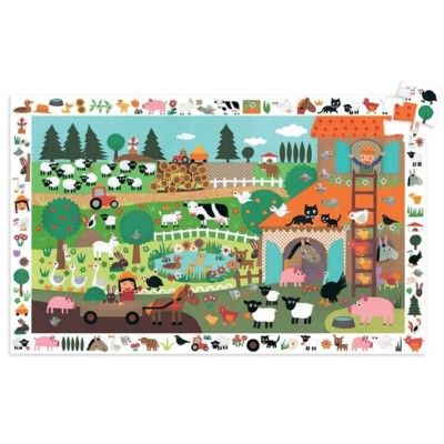 Golvpussel - bondgård med affisch - 35 bitar - Djeco