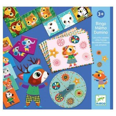 Spel - 3 i 1 - Bingo, memory, domino - Djeco