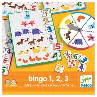 Spel - Bingo - 1 2 3 - Djeco