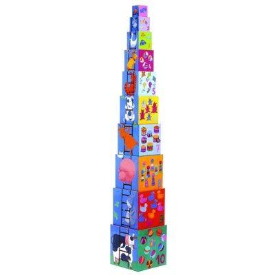10 stapelklossar - Funny Blocks - Djeco
