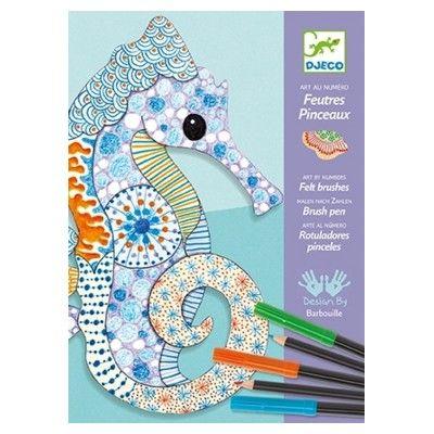Färglägga och rita - tuschpennor och färgpennor - Djeco
