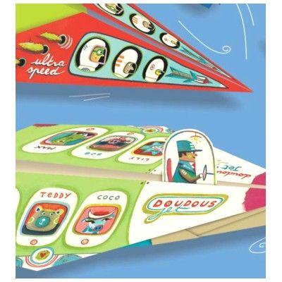 Origami - flygplan - blå - Djeco